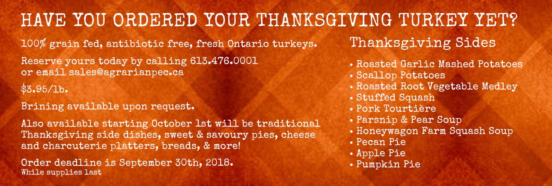 Thanksgiving Turkey 2018